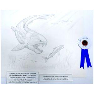Dunkelosteus-n-shark-drawing