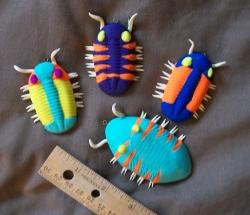 Polymer clay trilobites