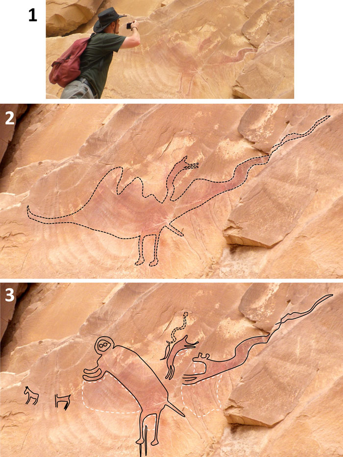Alleged UT pterosaur pictograph