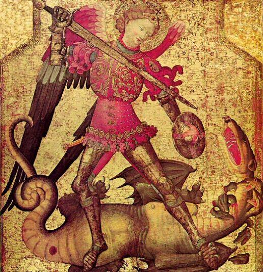 St Michael slaying the